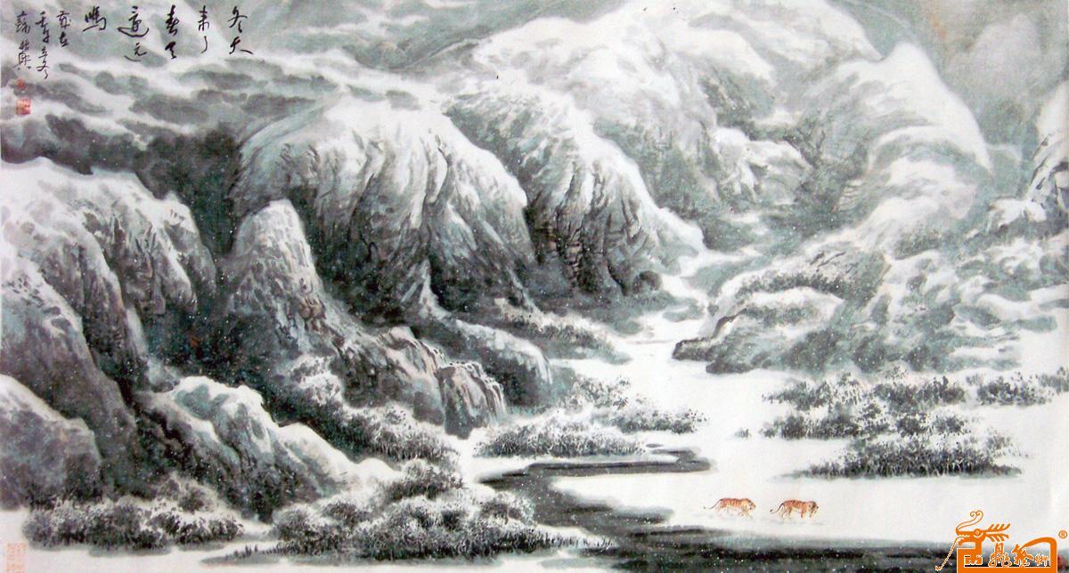 名家 苏振兴 国画 - 冬天来了春天还远吗